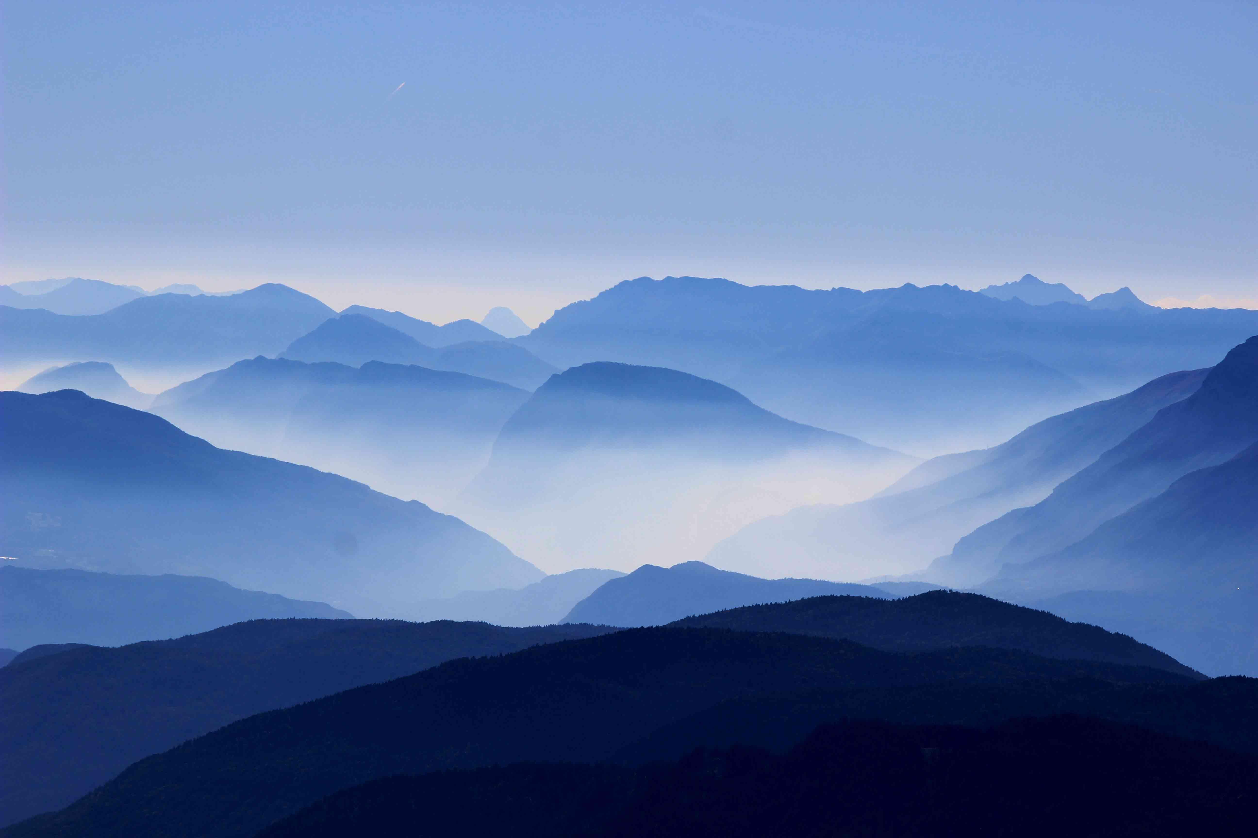 Foggy Mountains panoramic