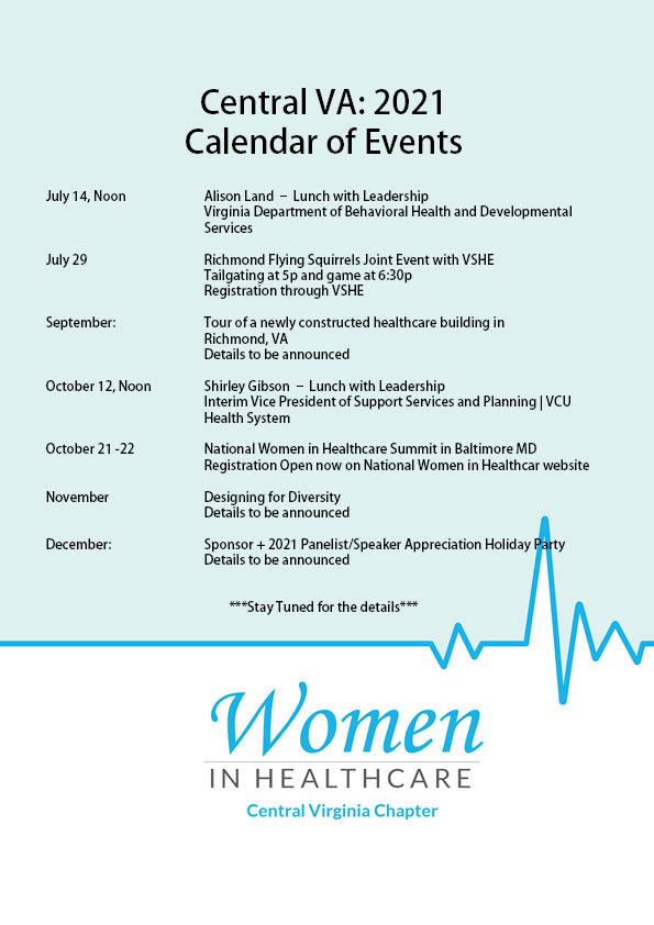 Central VA: 2021 Calendar of Events