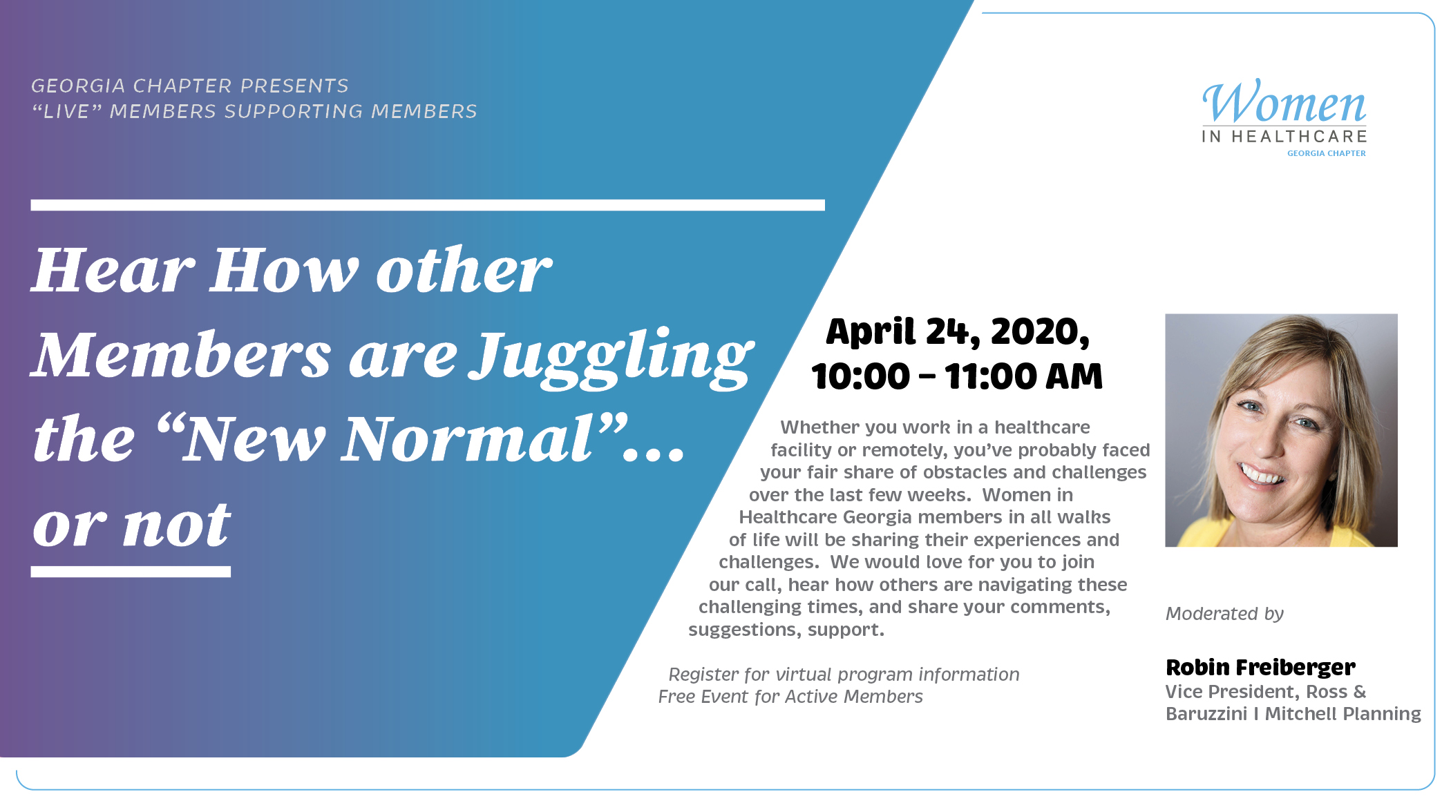 Virtual Member Meeting: The New Normal...or Not