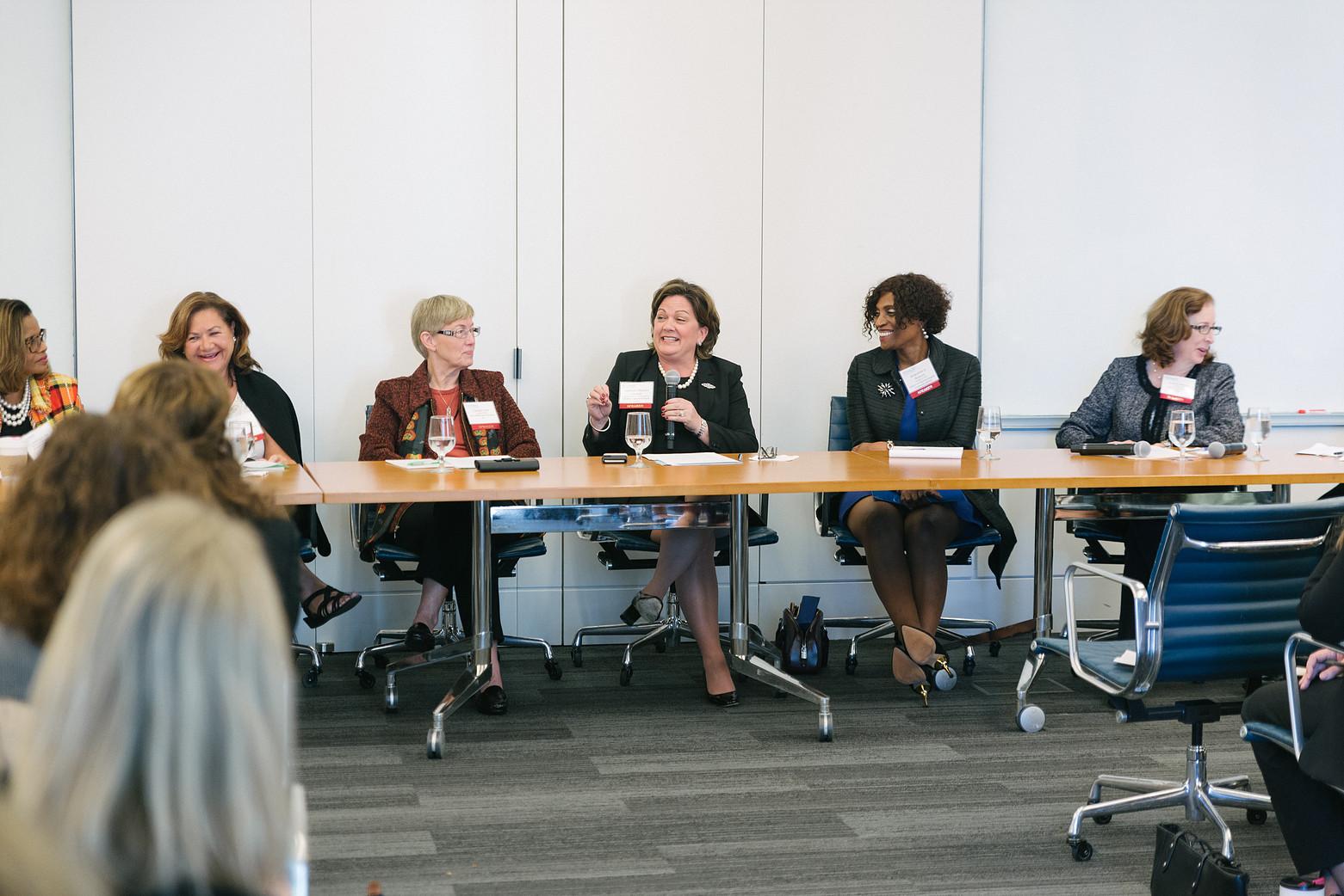 Women in healthcare meeting