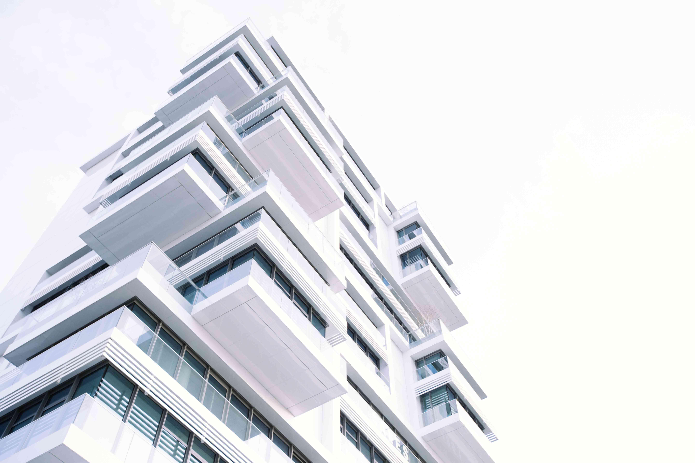 white highrise